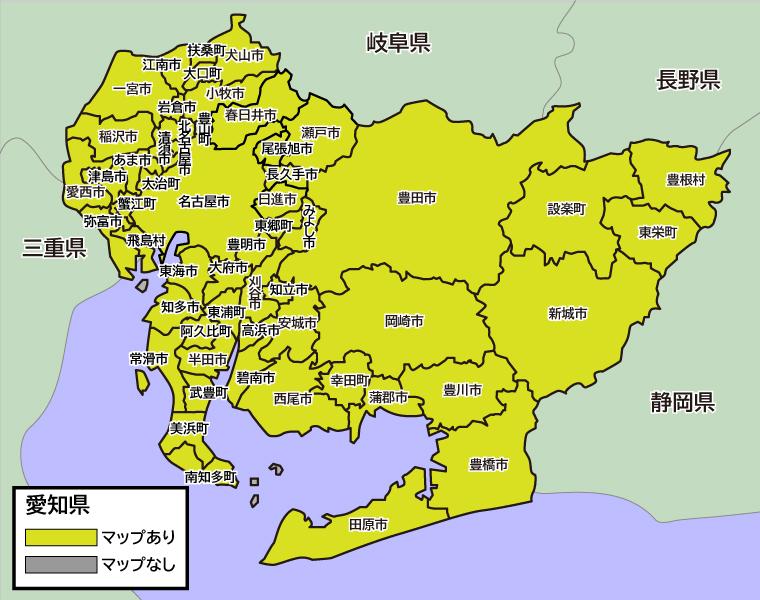愛知県|シームレスバスマップ